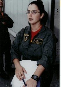 Nicole Odom in the US Navy.