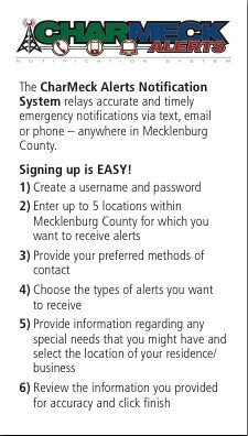 Signing up for CharMeck Alerts