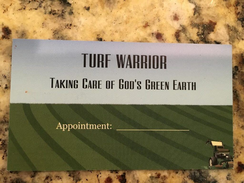 turf warrior business card