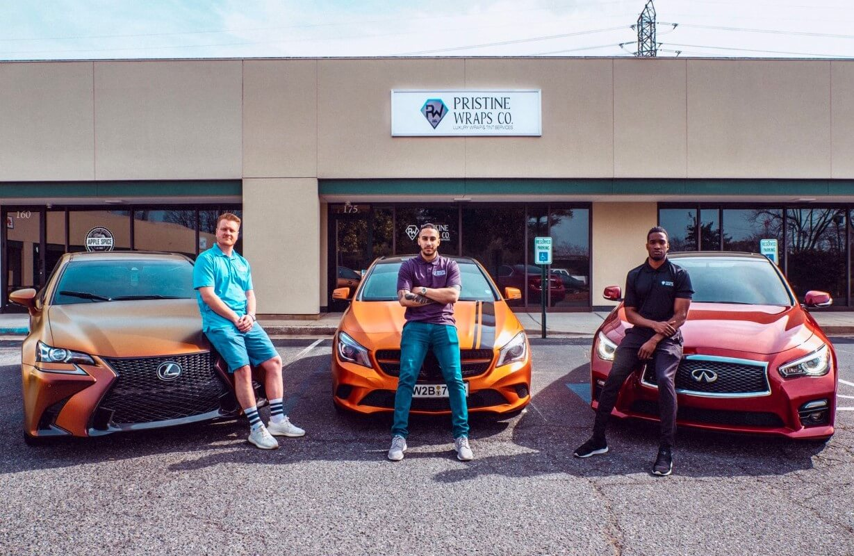 Charlotte Business Resources  exclusive interview with Russell Alexander Martin, Jabari Bradford, and Chad Phelps, owners of Pristine Wraps Co.