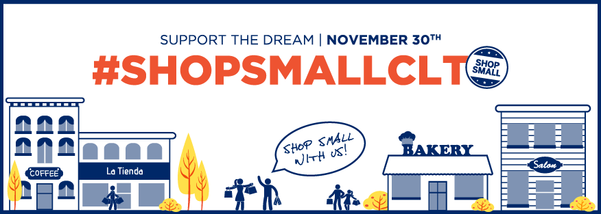 Shop Small banner announcing Small Business Saturday as November 30, 2019.